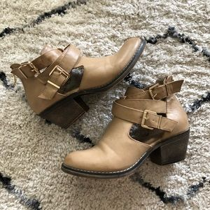 Buckle Booties with Cutouts